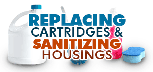 Installing Replacement Cartridges and Sanitizing Filter Housings